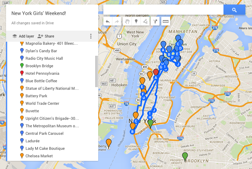 Google Map Of New York City.Girls Weekend In New York City Day 2 The Sweet Wanderlust