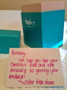 Personal note from Tieks thesweetwanderlust.com