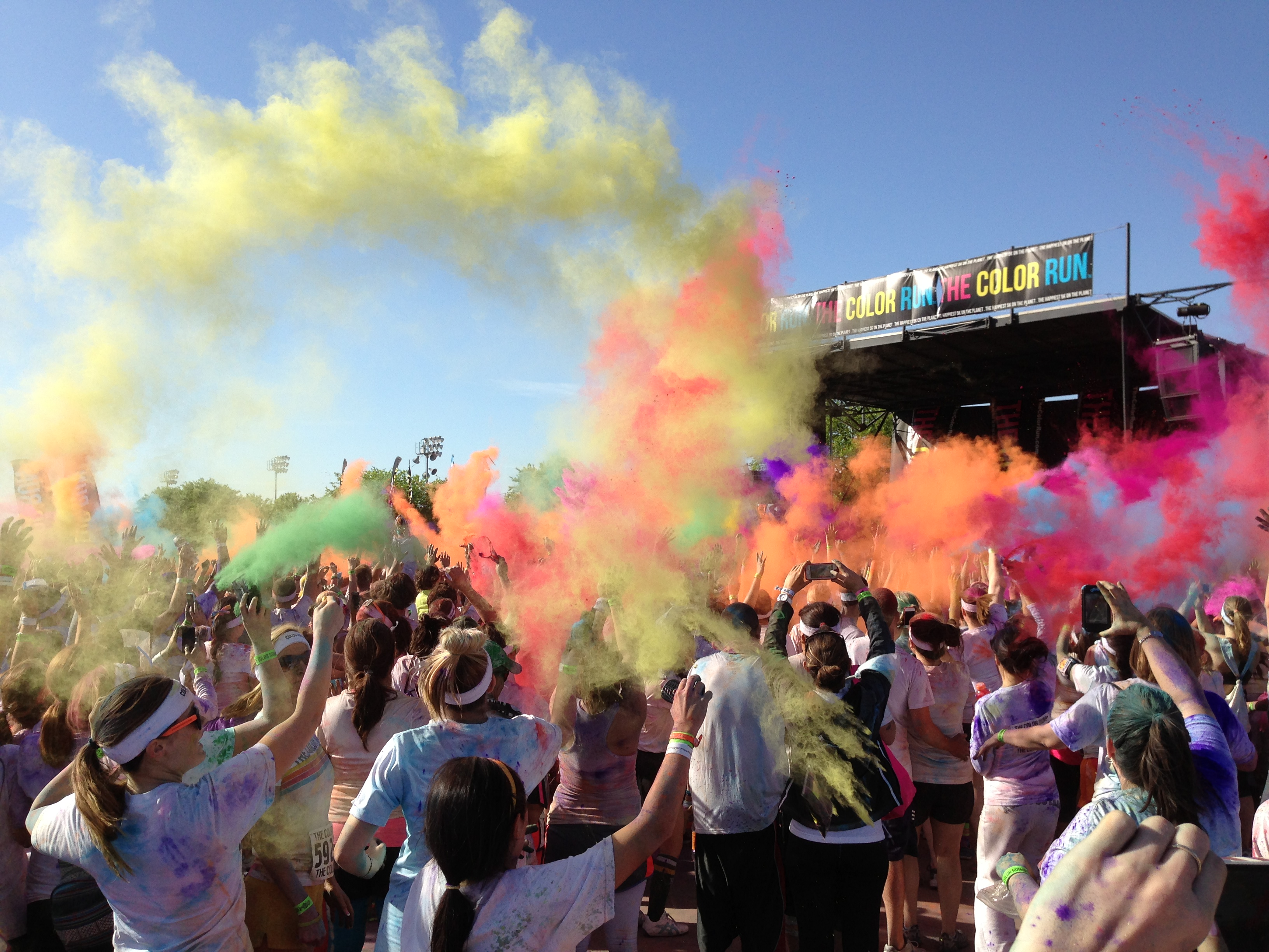 Color Run Dallas after party thesweetwanderlust.com