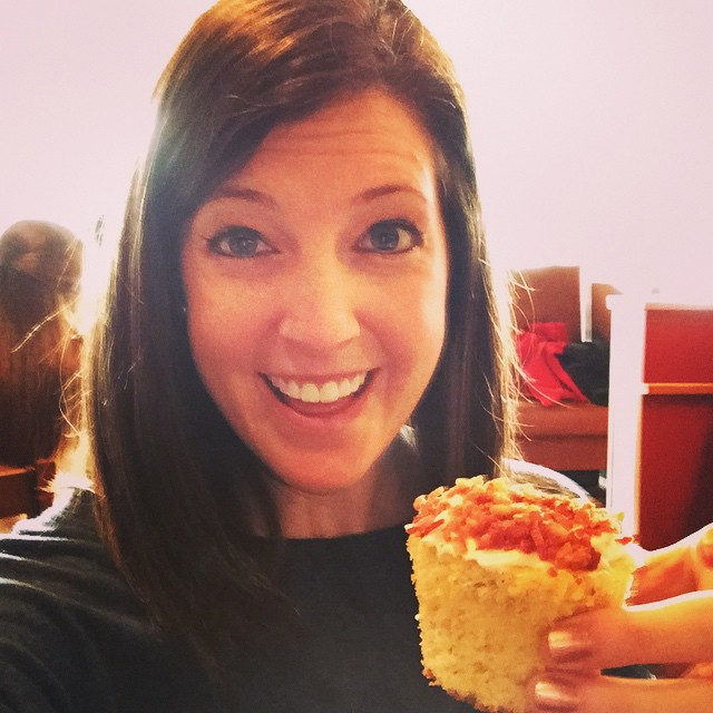 Brittany+bacon cupcake www.thesweetwanderlust.com