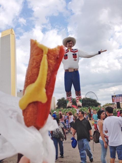 Big Tex and a Fletcher's Corn Dog