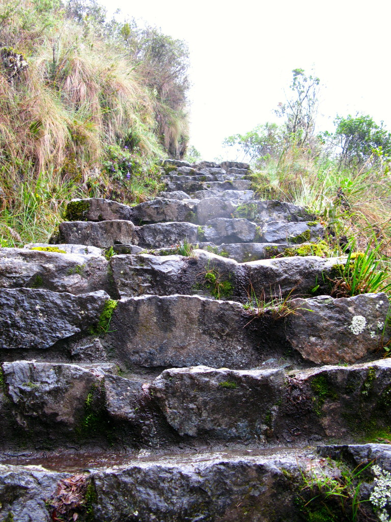 Inca Trail Day 2 stairs www.thesweetwanderlust.com