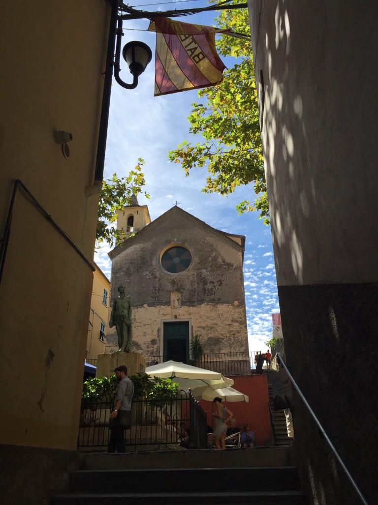 Church in Corniglia Cinque Terre www.thesweetwanderlust.com