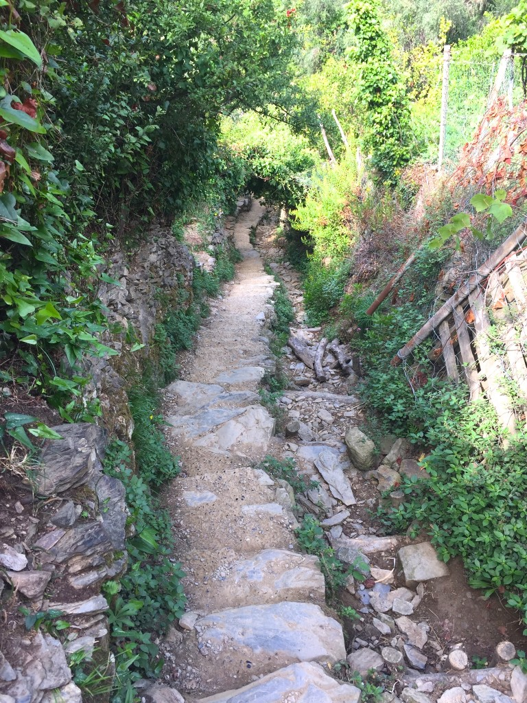 Steps to Monterosso from Vernazza Cinque Terre www.thesweetwanderlust.com