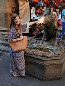 me and my Lily Claire bag in Florence
