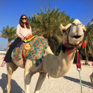 Camel ride in Abu Dhabi thesweetwanderlust.com