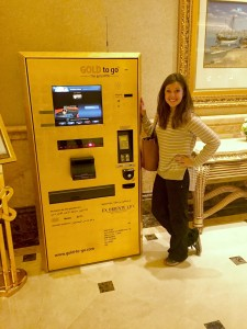 Gold ATM in Emirates Palace Abu Dhabi thesweetwanderlust.com