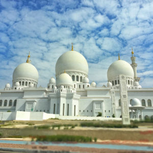 Abu Dhabi UAE Grand Mosque thesweetwanderlust.com