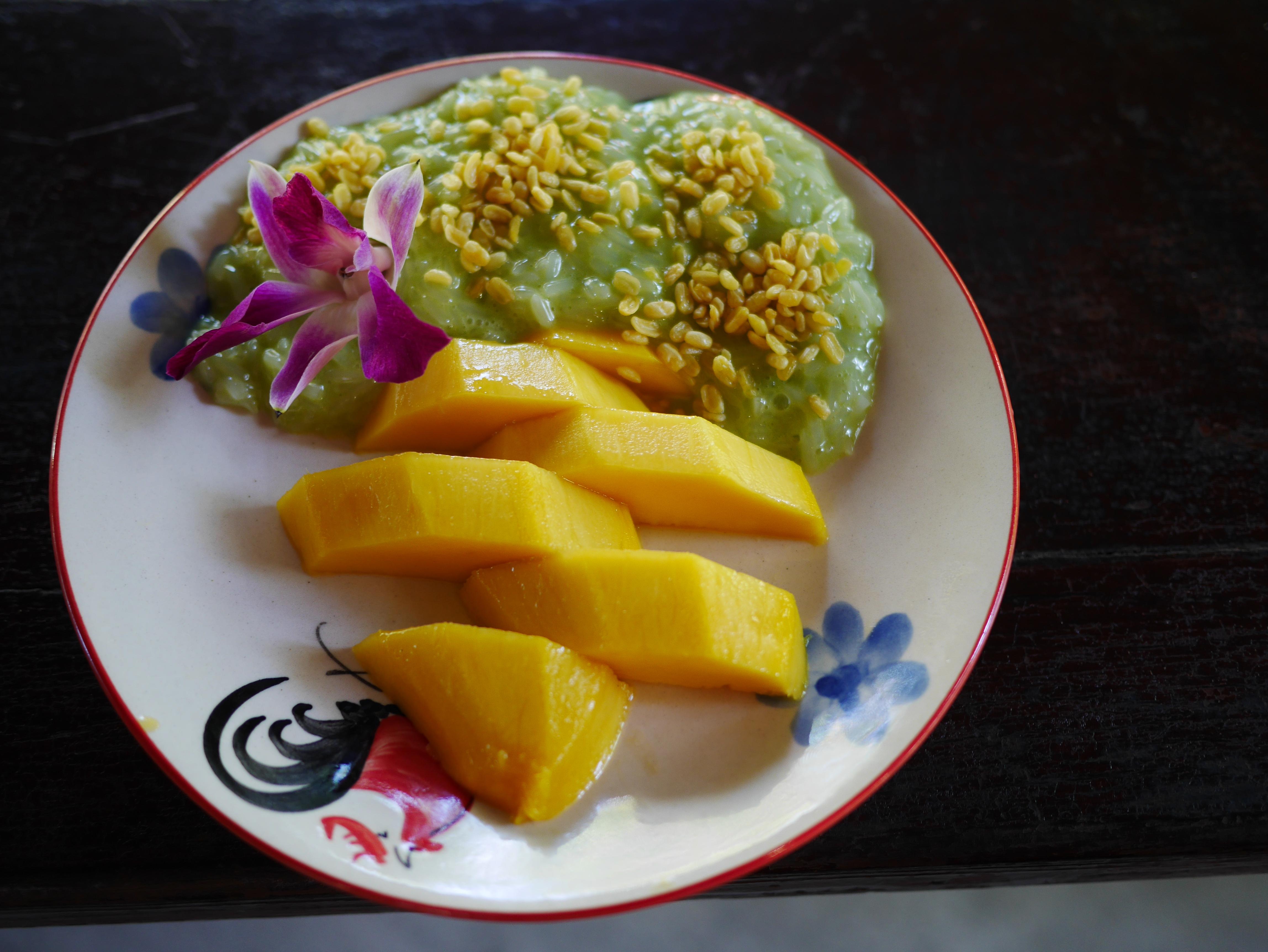 Thai Farm cooking school mango sticky rice Chiang Mai Thailand thesweetwanderlust.com