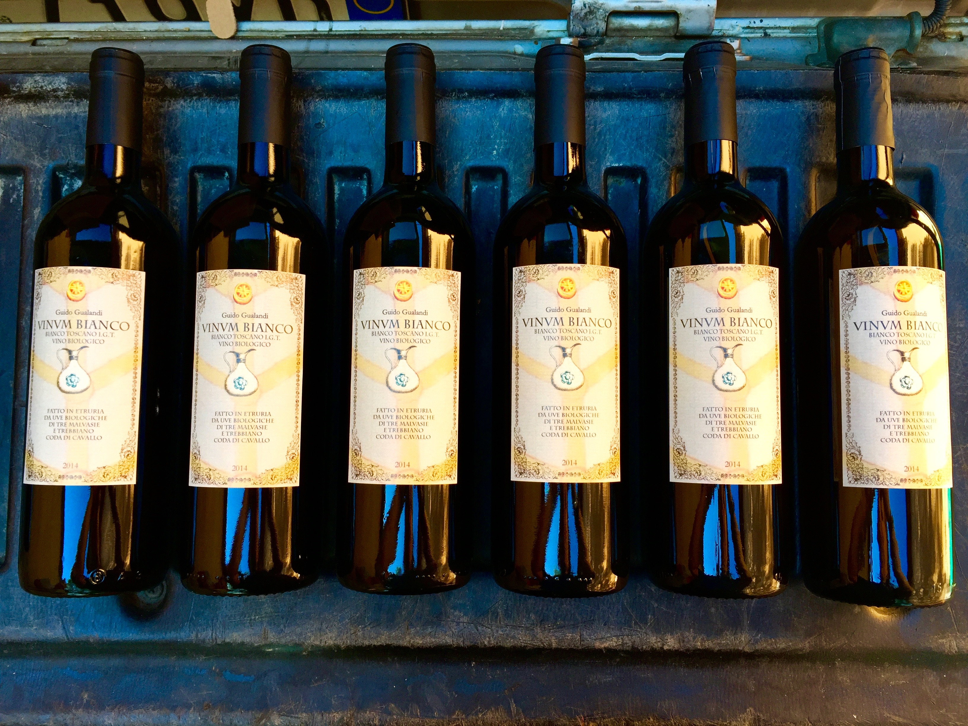 Labeling Podere Gualandi wine thesweetwanderlust.com