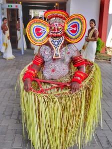 Theyyam dance at Vythri Village Resort Wayanad thesweetwanderlust.com