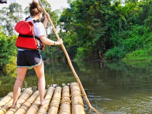 Bamboo rafting with Muddy Boots in Wayanad thesweetwanderlust.com