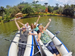 Kayaking at Wayanad Adventure Park on Karlad Lake thesweetwanderlust.com
