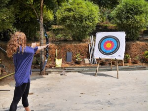 Wayanad Adventure Camp archery thesweetwanderlust.com