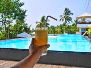 fresh pineapple juice at Turtle on the Beach Resort Kerala thesweetwanderlust.com