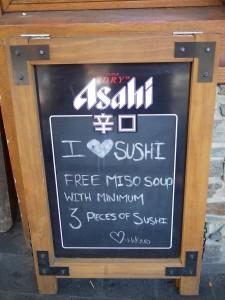 Hilkari Sushi free miso soup Queenstown thesweetwanderlust.com