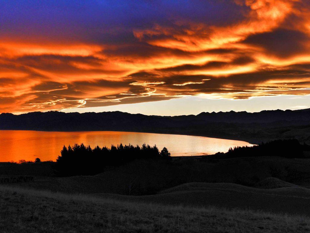 Kaikoura sunset thesweetwanderlust.com