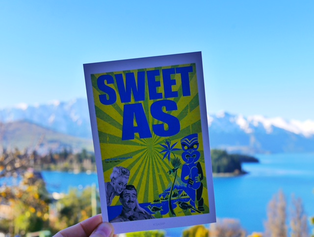 Sweet As postcard Queenstown, New Zealand