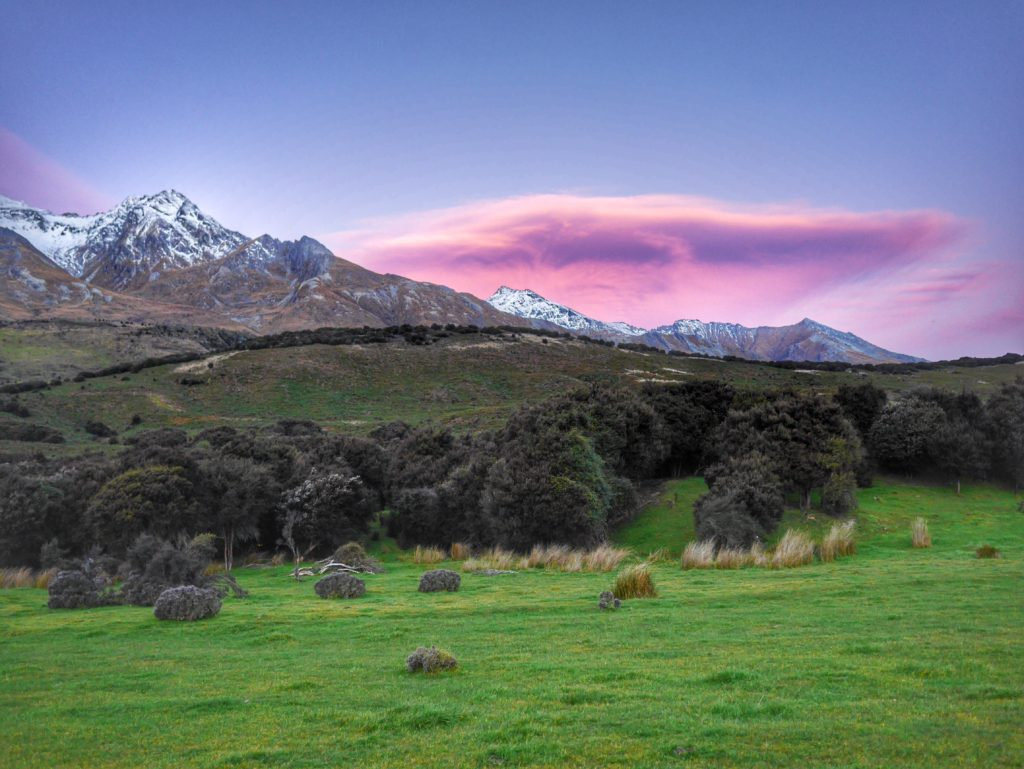 Glenorchy sunset Queenstown
