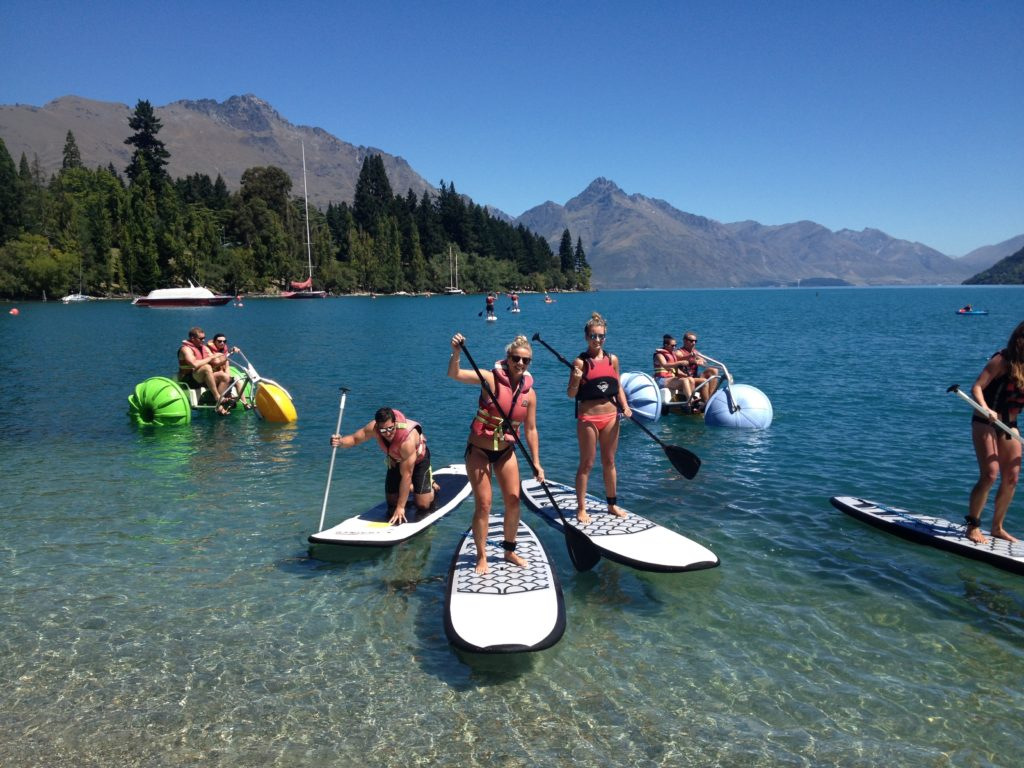Stand up paddle board on Lake Wakatipu with WaterSports Queenstown