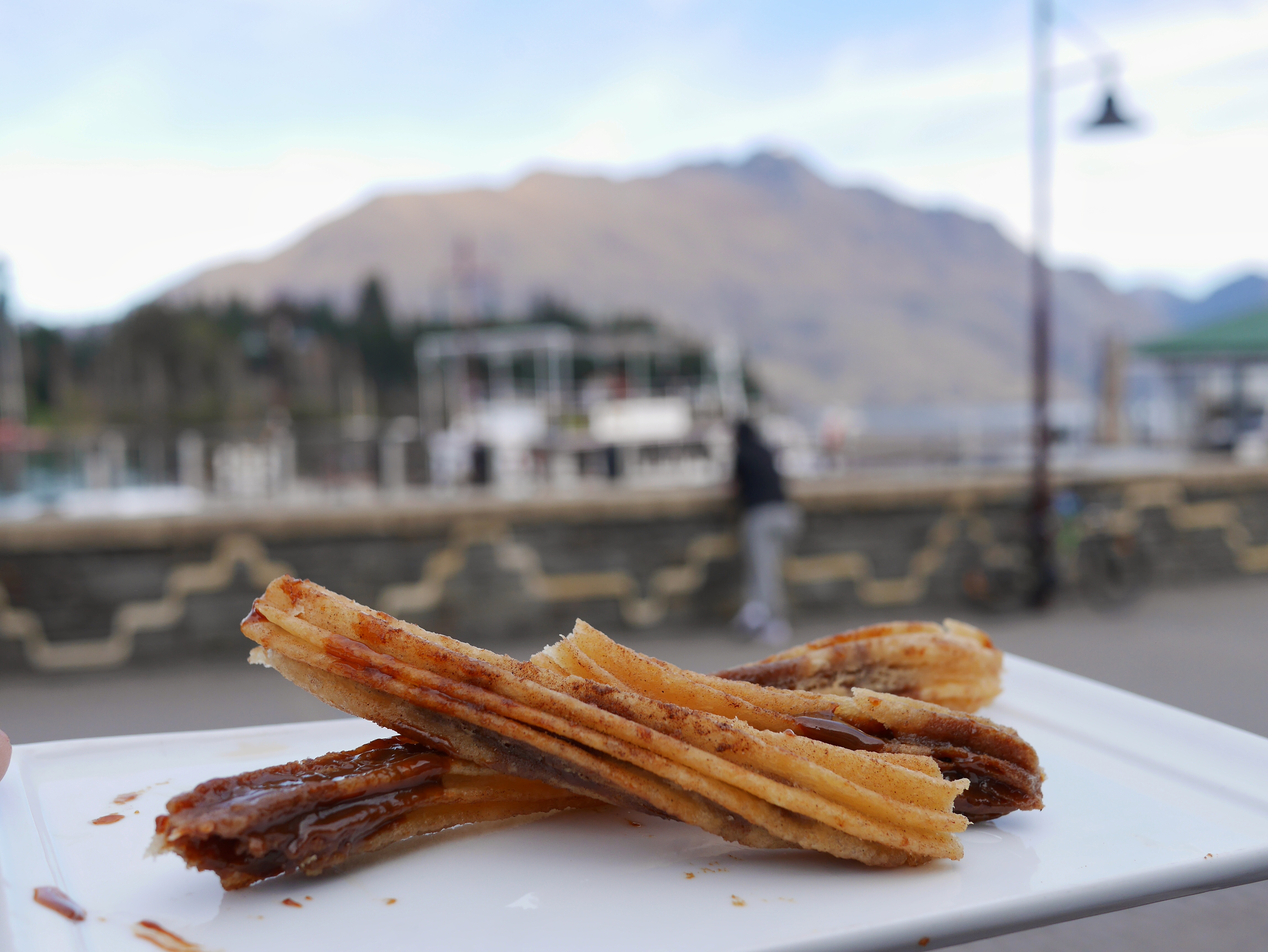 Patagonia Chocolates Queenstown dulce de leche stuffed churros thesweetwanderlust.com