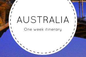 one week Australia itinerary
