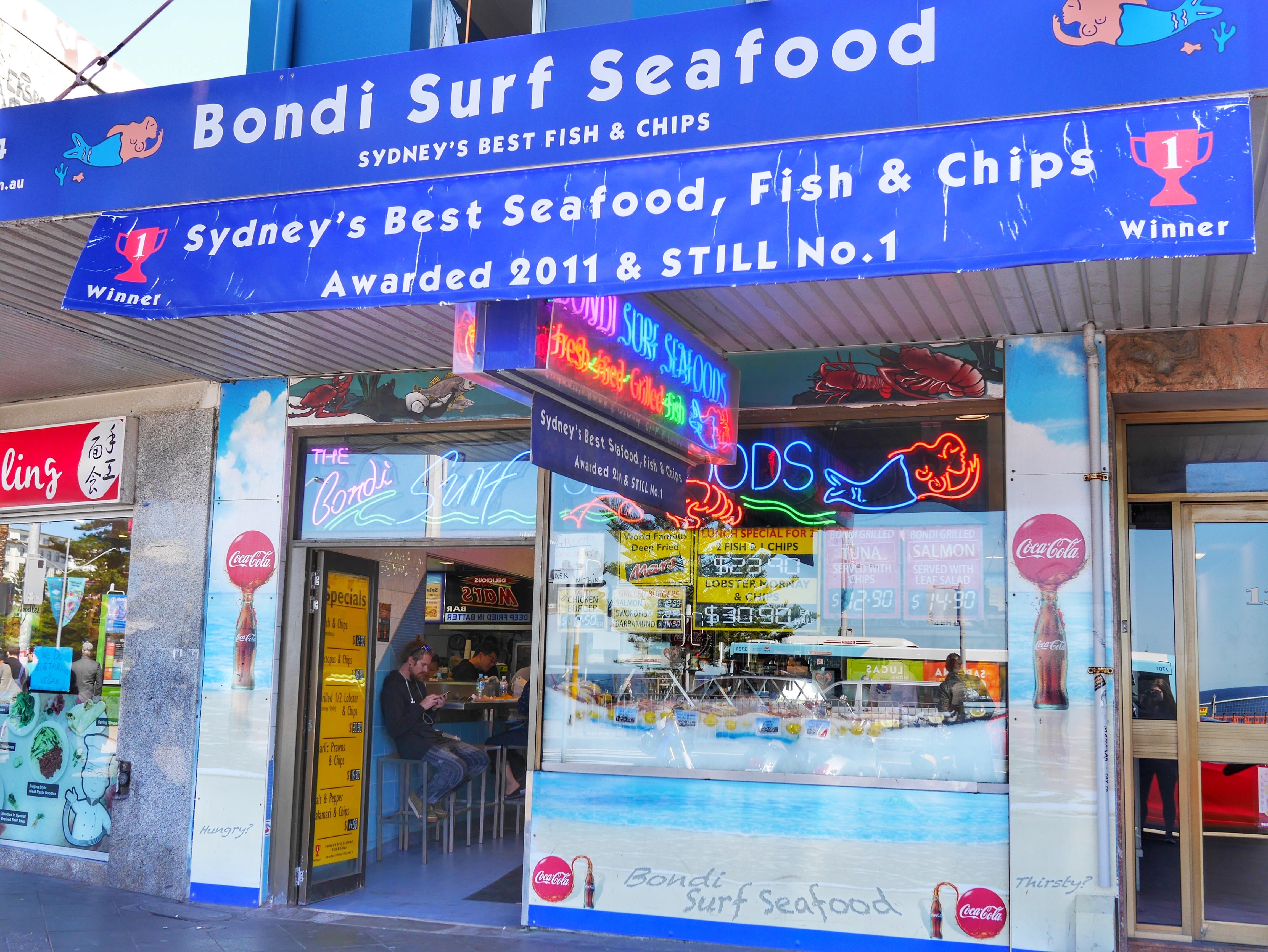 Bondi Surf Seafood Best fish & chips Sydney thesweetwanderlust.com