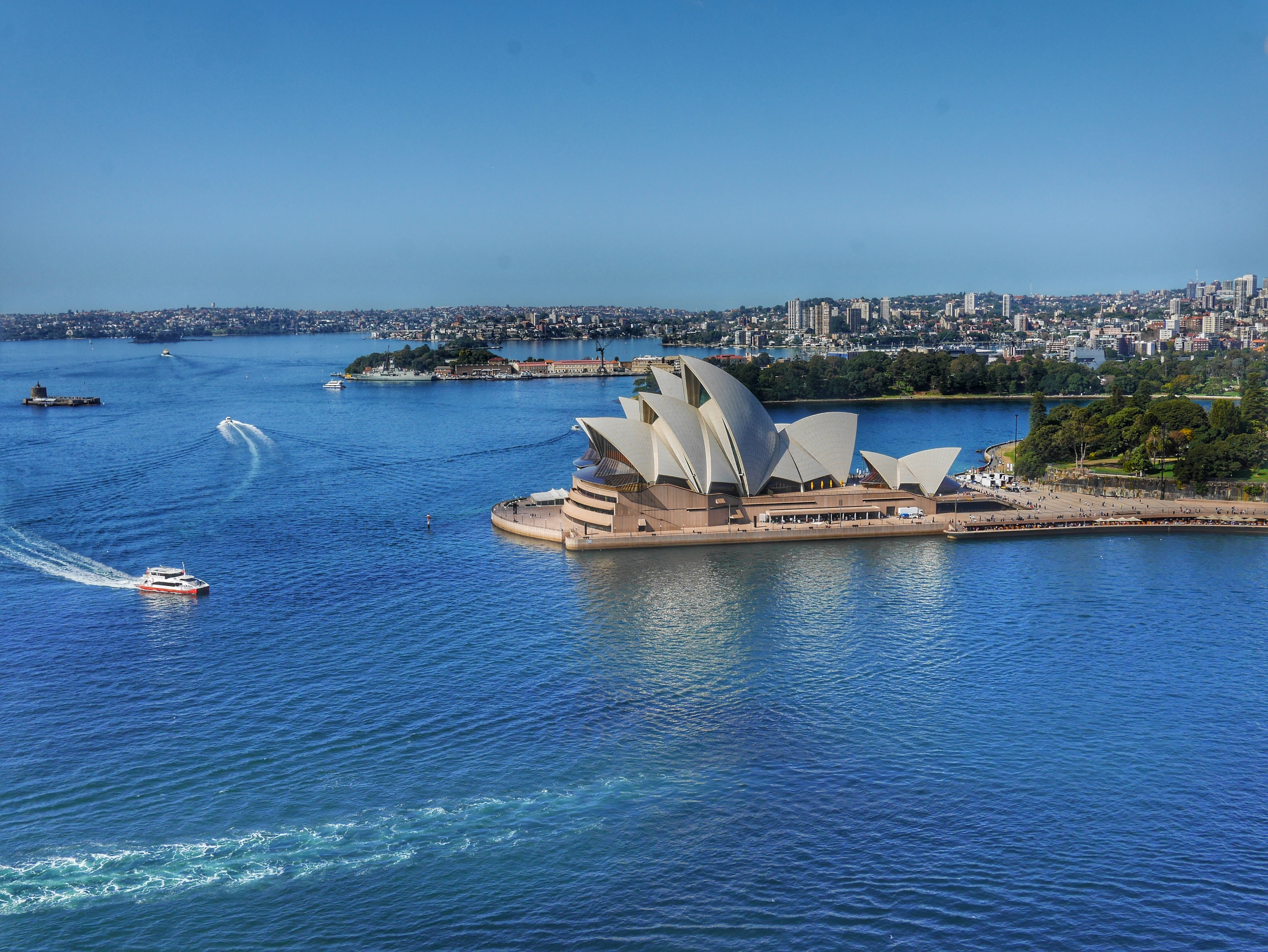View from Sydney Harbour Bridge pylon thesweetwanderlust.com