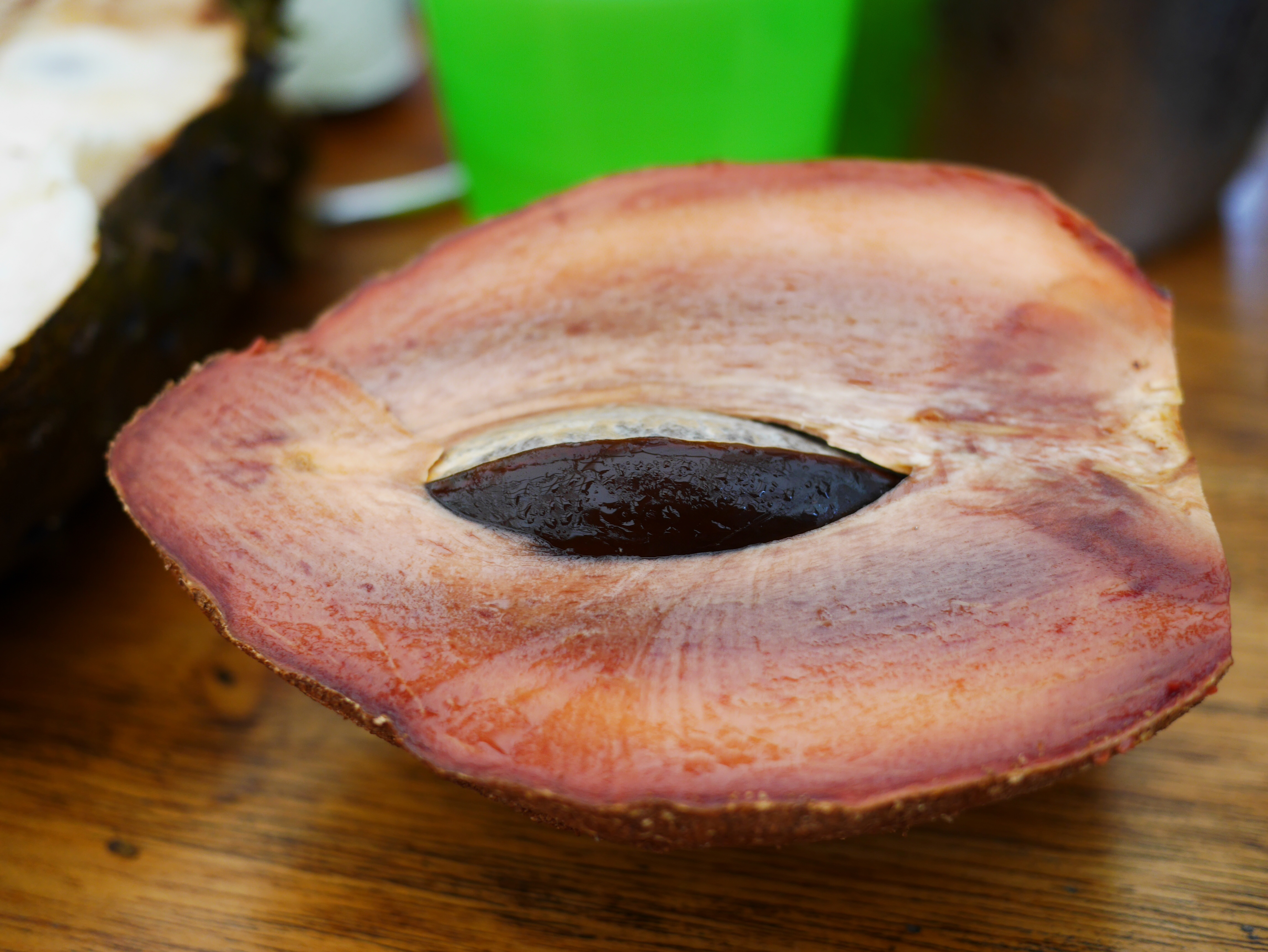 Mamey Sapote pumpkin pie fruit Cape Tribulation exotic fruit thesweetwanderlust.com
