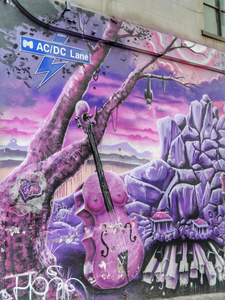 Melbourne CBD best street art ACDC Lane thesweetwanderlust.com