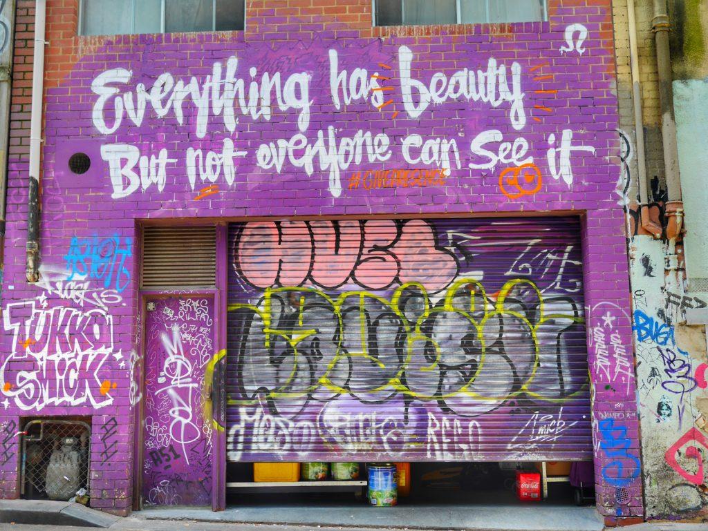 Melbourne CBD best street art Caledonian Lane thesweetwanderlust.com