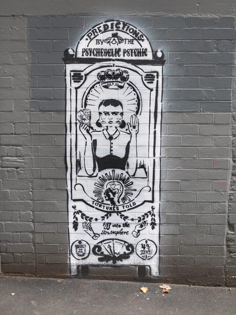 Melbourne CBD best street art Drewery Lane