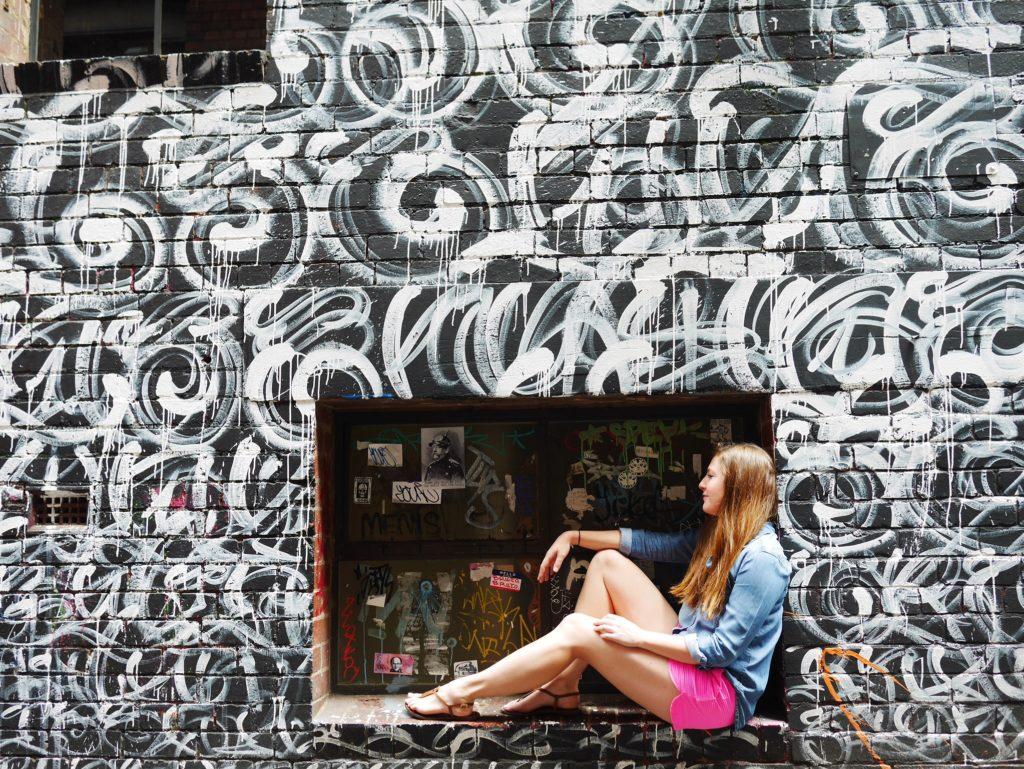 Melbourne CBD best street art Duckboard Place