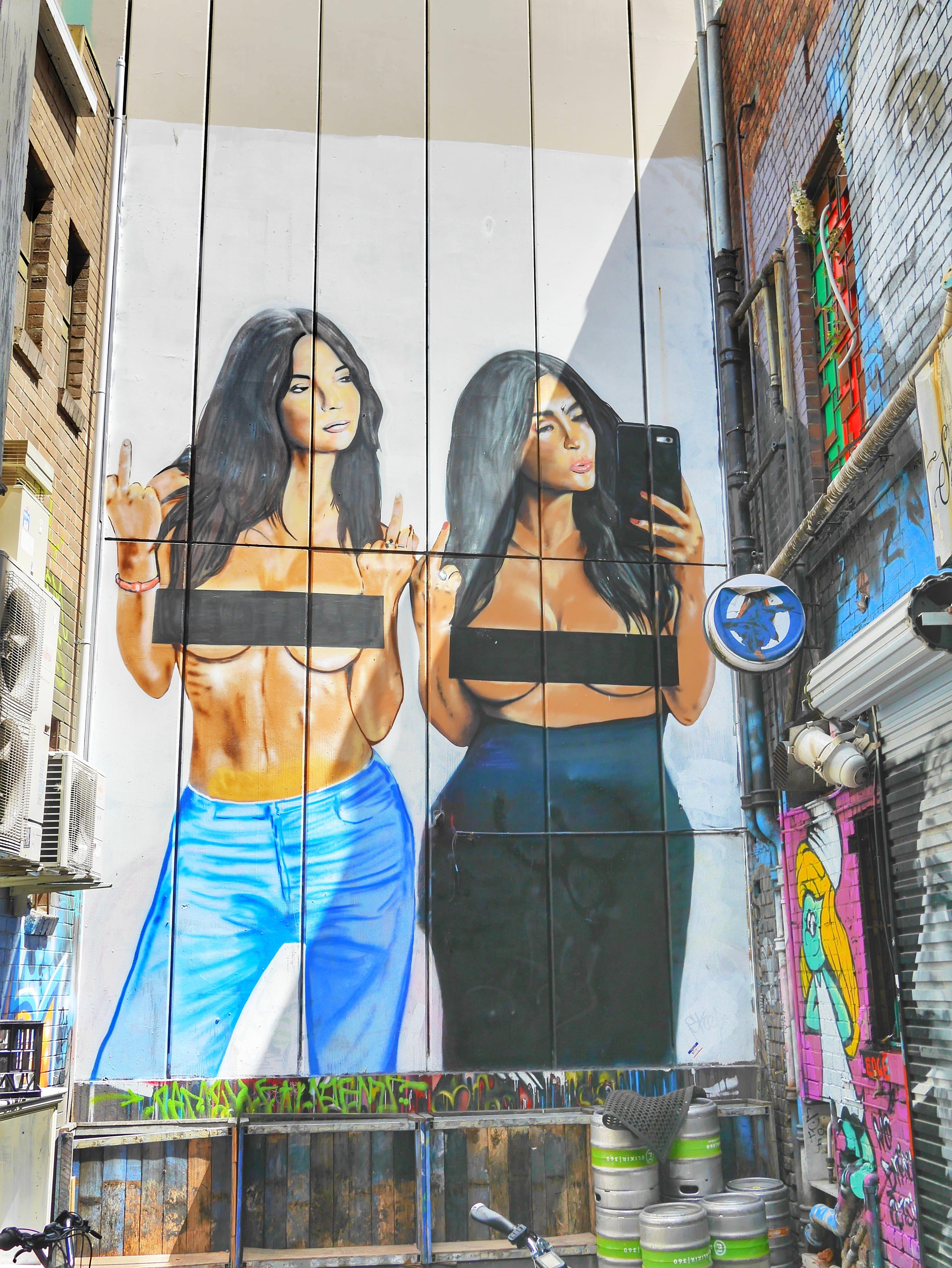 Kim K Graffiti Melbourne