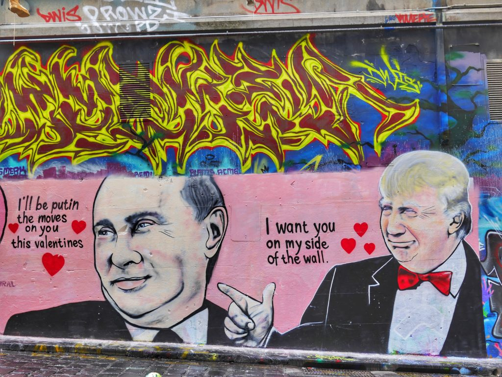 Melbourne CBD best street art Trump Putin Hosier Lane thesweetwanderlust.com