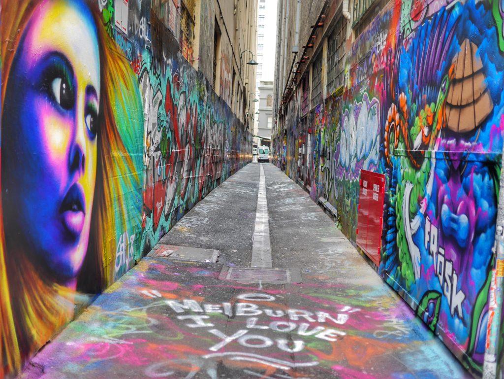 Melbourne CBD best street art Union Lane Melbourne