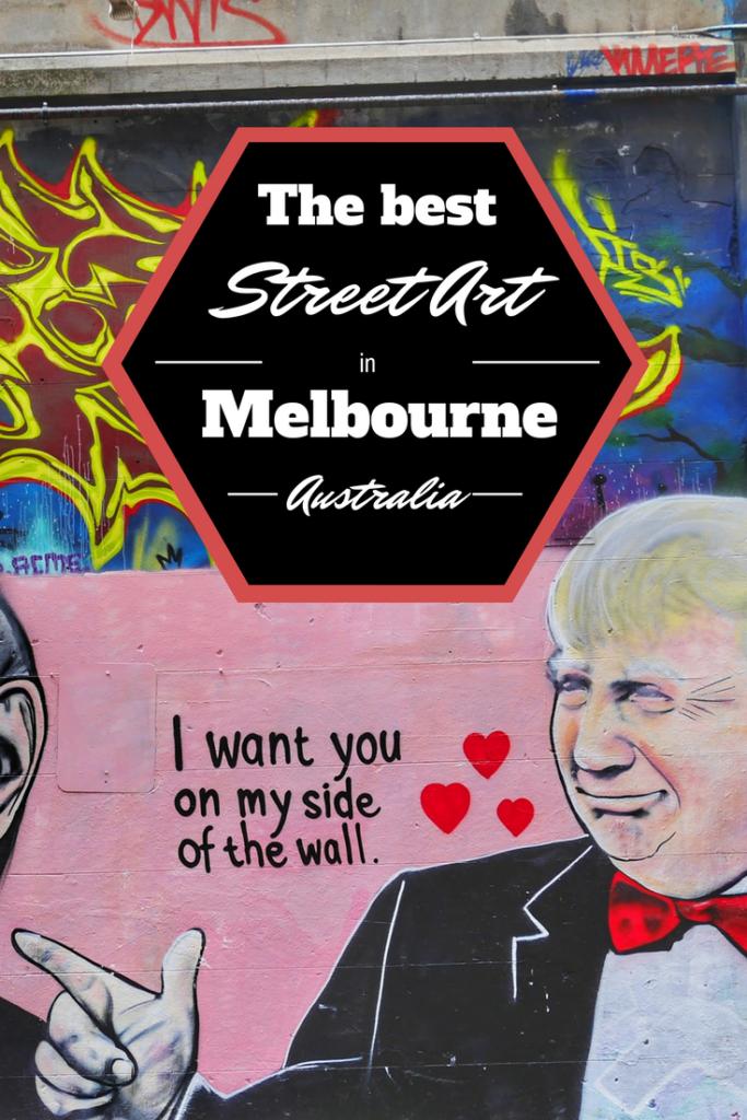 Melbourne's best street art Trump Valentine thesweetwanderlust.com