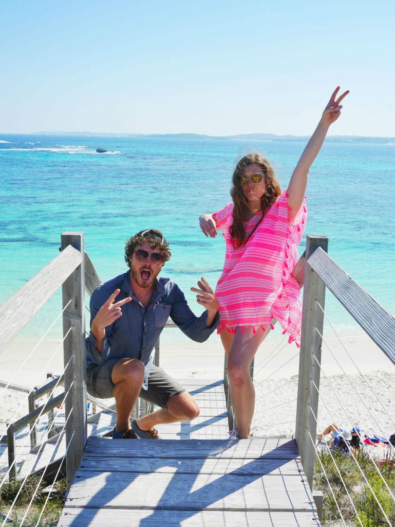 Allan Dixon @daxon and Brittany Kulick Rottnest Island