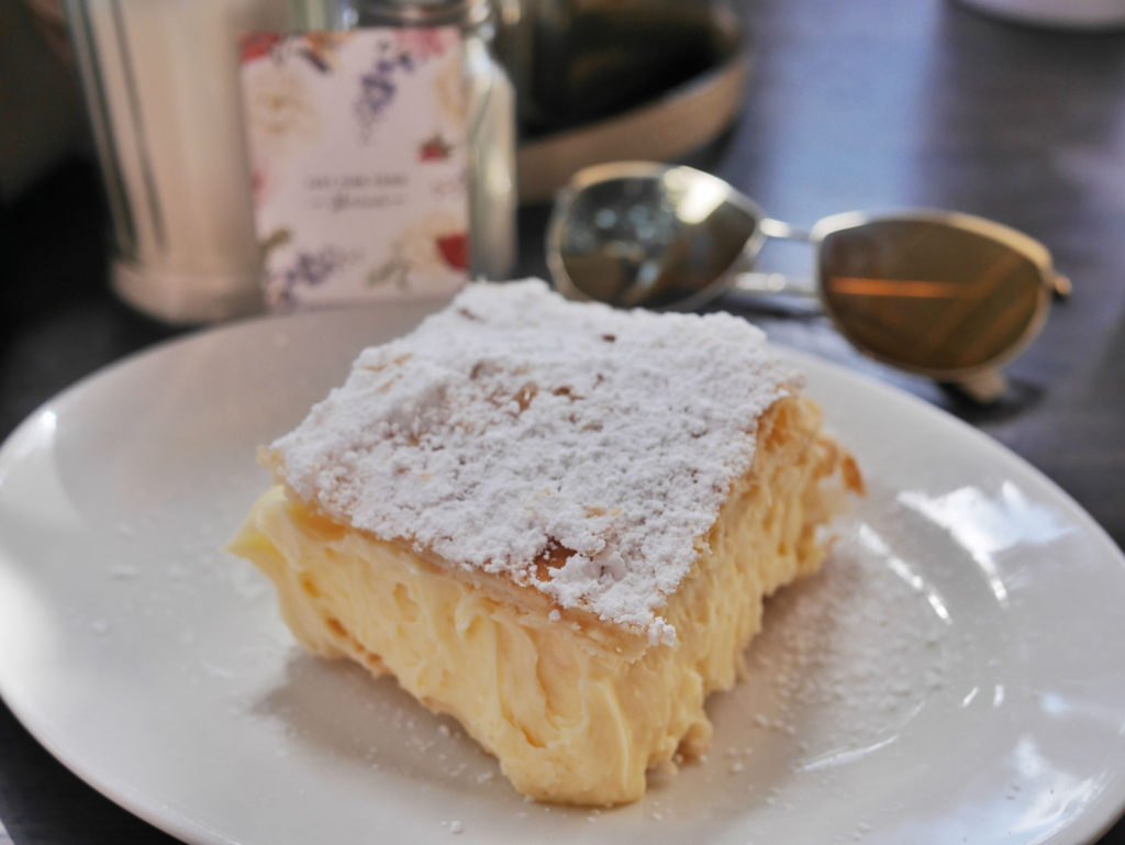Just Fine Foods famous Vanilla slice Mornington Peninsula