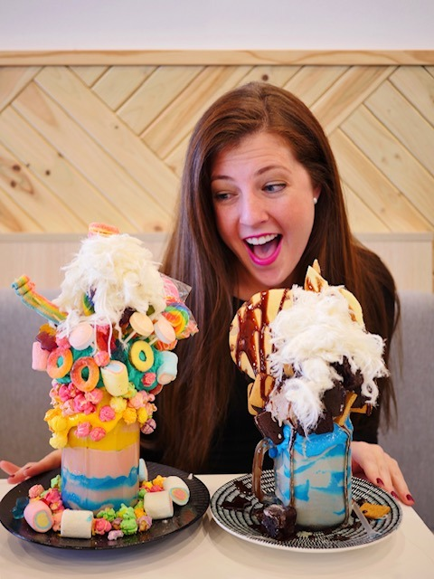 Sweet Espresso Mentone Willy Wonka and Cookie Monster freakshakes
