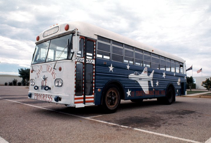 Dennis Brockschmidt Exmouth American 4 July 1976 bus painting