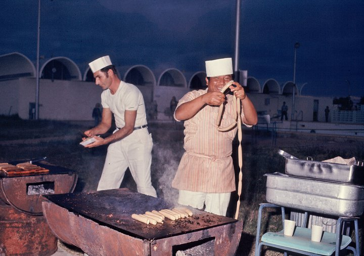 Dennis Brockschmidt Exmouth 4 July 1976 hot dogs