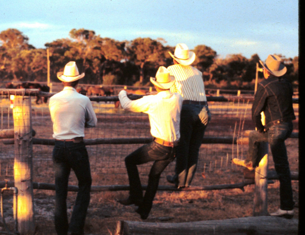 Exmouth American Cowboys checking out the arena at Many Peaks Australia