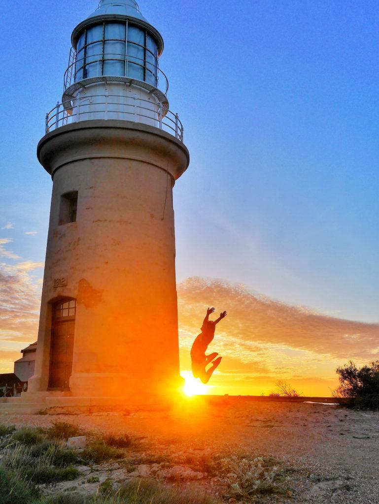 Lighthouse Exmouth sunset