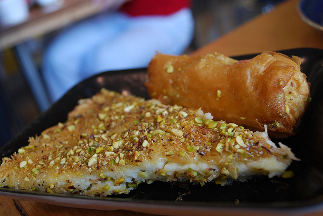 knafeh from Jordan best desserts around the world