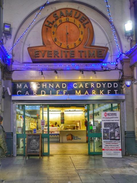 Cardiff Market clock H Samuel