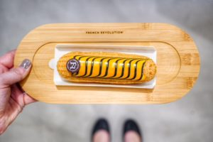 French Revolution Bucharest mango eclair