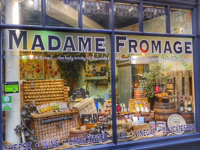 Madame fromage in Castle Arcade Cardiff