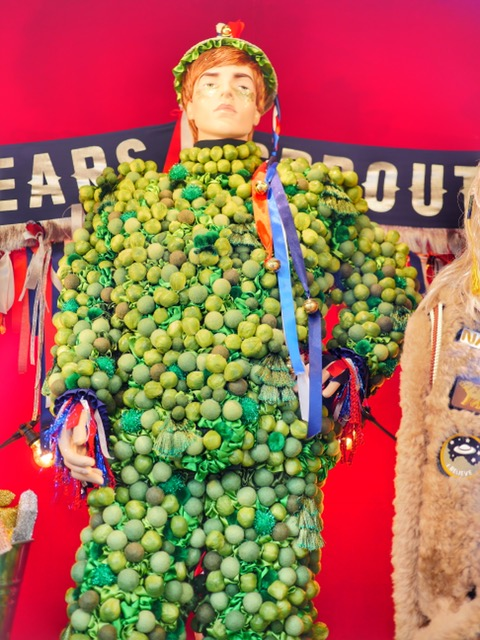 Selfridges 2017 Christmas Window Brussels Sprouts Man