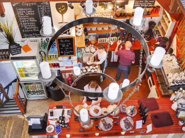 The Plan Artisan coffee Morgan Arcade Cardiff Wales